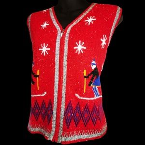 90's Marsh Landing Ugly Christmas Sweater Vest